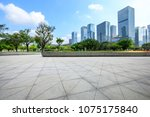 empty square floor and modern... | Shutterstock . vector #1075175840