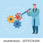 vector cartoon illustration of...   Shutterstock .eps vector #1075176104