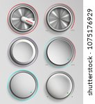 set of buttons reality volume... | Shutterstock .eps vector #1075176929