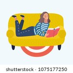vector cartoon illustration of... | Shutterstock .eps vector #1075177250
