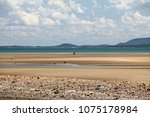 long sandy beach at chumphon ... | Shutterstock . vector #1075178984