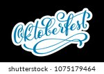 oktoberfest celebration... | Shutterstock .eps vector #1075179464