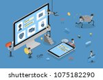 thief stealing data from... | Shutterstock .eps vector #1075182290