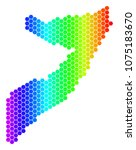 spectrum hexagonal somalia map. ... | Shutterstock . vector #1075183670