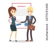 signing up contract.... | Shutterstock .eps vector #1075191440