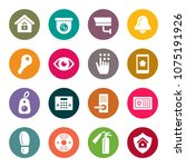 home security icon set   Shutterstock .eps vector #1075191926