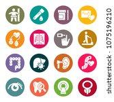 health checkup icon set   Shutterstock .eps vector #1075196210