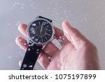 my waterproof watch | Shutterstock . vector #1075197899