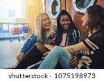 diverse group of young... | Shutterstock . vector #1075198973