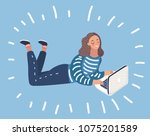 vector cartoon illustration of... | Shutterstock .eps vector #1075201589