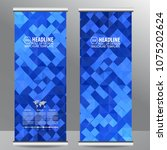 roll up business brochure flyer ... | Shutterstock .eps vector #1075202624