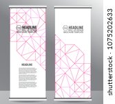roll up business brochure flyer ... | Shutterstock .eps vector #1075202633