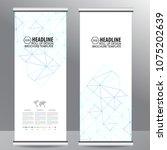 roll up business brochure flyer ... | Shutterstock .eps vector #1075202639