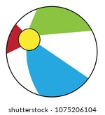 summer beach ball | Shutterstock .eps vector #1075206104