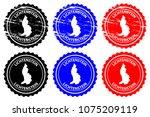 liechtenstein   rubber stamp  ... | Shutterstock .eps vector #1075209119