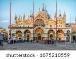 st. mark's square  san marco ... | Shutterstock . vector #1075210559