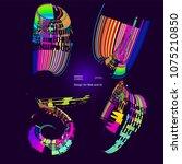 abstract vector background dot... | Shutterstock .eps vector #1075210850