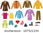 color mens clothing collection | Shutterstock .eps vector #107521154