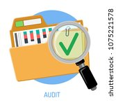 success audit concept. open... | Shutterstock .eps vector #1075221578