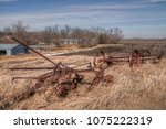 an old neglected farm and... | Shutterstock . vector #1075222319