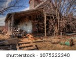 an old neglected farm and... | Shutterstock . vector #1075222340