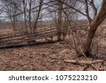 an old neglected farm and... | Shutterstock . vector #1075223210