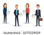 group of people human resources | Shutterstock .eps vector #1075229039