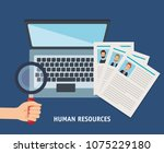 human resources set icons | Shutterstock .eps vector #1075229180