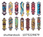 various colored patterns on... | Shutterstock .eps vector #1075229879