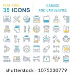 set of vector line icons  sign... | Shutterstock .eps vector #1075230779