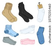 vector cartoon set of color...   Shutterstock .eps vector #1075231460