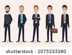 group businessmen avatars...   Shutterstock .eps vector #1075233380