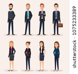 business people group avatars... | Shutterstock .eps vector #1075233389