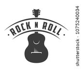 rock n roll logo. retro badge ... | Shutterstock .eps vector #1075240034