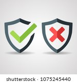 tick mark approved icon vector... | Shutterstock .eps vector #1075245440