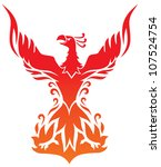phoenix vector   Shutterstock .eps vector #107524754
