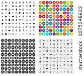 100 construction worker icons... | Shutterstock .eps vector #1075248623