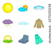 climate adaptation icons set.... | Shutterstock .eps vector #1075250258