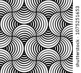 seamless black and white stiped ... | Shutterstock .eps vector #1075251653