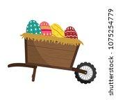 eggs easter decoration inside... | Shutterstock .eps vector #1075254779