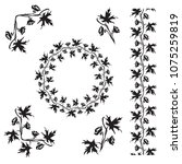 hand drawn larkspur  delphinium ... | Shutterstock .eps vector #1075259819