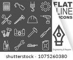 editable stroke. simple set of... | Shutterstock .eps vector #1075260380