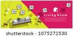 horizontal interior banner sale ... | Shutterstock .eps vector #1075272530