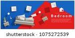 horizontal interior banner sale ... | Shutterstock .eps vector #1075272539