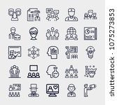 set of 25 people outline icons... | Shutterstock .eps vector #1075273853