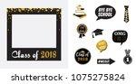 graduation party vector design... | Shutterstock .eps vector #1075275824