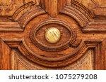 an antique bronze doorknob....   Shutterstock . vector #1075279208