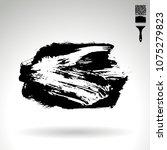 black brush stroke and texture. ...   Shutterstock .eps vector #1075279823