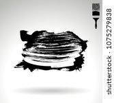 black brush stroke and texture. ... | Shutterstock .eps vector #1075279838