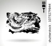 black brush stroke and texture. ... | Shutterstock .eps vector #1075279844